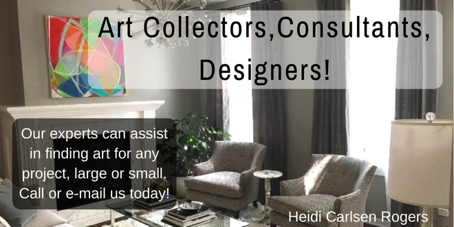 Art Collectors, Consultants, Designers - art by Heidi Carlsen Rogers